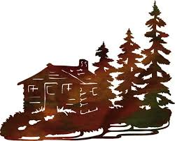 mountain cabin metal wall art by steel images home decor ideas mountain metal wall art