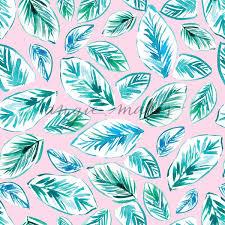 Cute Pink Tropical Leaf Background Pattern