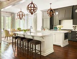 Small Picture Black Cabinets with White kItchen Island Transitional Kitchen
