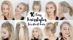 Hairstyle For Women With Short Hair 10 easy hairstyles for short hair youtube 4619 by stevesalt.us