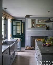 20 Inspirational Scheme For Gray Kitchen Cabinets Blue Backsplash
