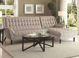 retro look furniture. 24 Luxury Ebay Living Room Furniture: Retro Look Light Gray Tufted Chenille Sofa Sectional Furniture A