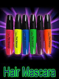 neon black light hair mascara for glow in the dark black light party