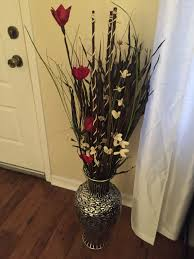 My floor vase. The floor vase was purchased from Ross as well as the  decorative