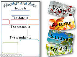 Daily Weather Chart And Calendar In Pdf To Print Teaching