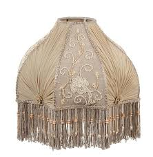 beaded lamp shades antique buff pleated chiffon and embroidered panels lamp shade how to make beaded