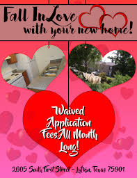 Valentines Apartment Leasing Flyer Template Postermywall