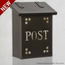 post cutout vertical craftsman wall mount mailbox