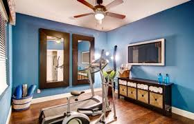 home gym furniture. view in gallery blue is both invigorating and relaxing at the same time home gym furniture