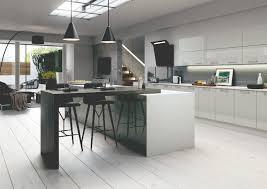 High Gloss Kitchen Doors Grey High Gloss Slab Kitchen Doors