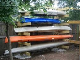 outdoor kayak rack kayak storage rack plans outdoor boat racks 8