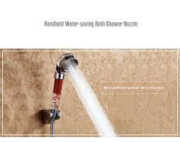 handheld water saving bath shower nozzle filter head sprinkler sprayer bathroom accessories colormix