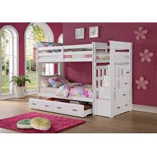 twin bunk beds white.  Beds Allentown Twin Over Wood Bunk Bed White For Beds R