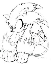 Free Sonic Coloring Pages Running Downcom