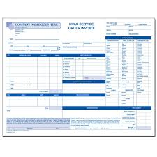 service call invoice hvac contractor invoice form custom form printing designsnprint