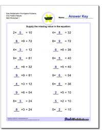 kindergarten balancing math equations pre algebra