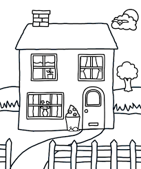 Small Picture Coloring Pages Printable House Coloring Pages