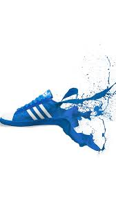 adidas shoes logo. adidas blue shoes sneakers logo art iphone se wallpaper