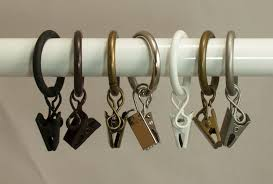image of top curtain ring clips