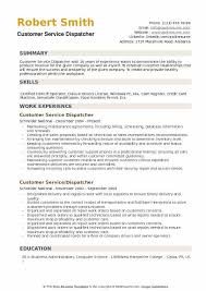 Dispatch Operator Sample Resume