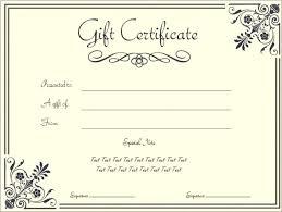 Homemade Gift Certificate Templates Homemade Gift Certificate