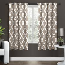 exclusive home ironwork sateen woven blackout thermal grommet top window curtain panel pair burdy 5284 com