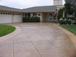 stamped concrete driveways styles