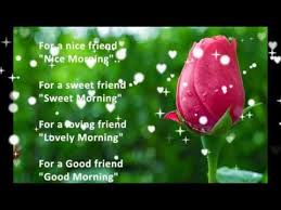 good morning es for friends in