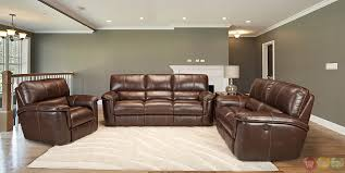 brown leather sofa sets.  Leather Attractive Reclining Leather Sofa Sets Morrell Set   For Brown