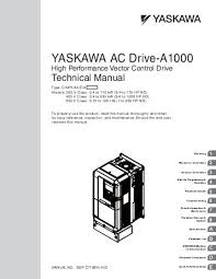 yaskawa ac drive j1000 compact v f control drive quick start yaskawa ac drive a1000