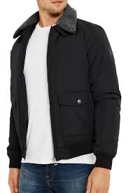 threadbare men camden aviator faux fur collar ma1 er jacket fashion coat s black about this picture 1 of 5 picture 2 of 5 picture 3 of 5
