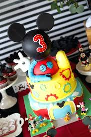mickey mouse cake ideas birthdy prty krs prty ides