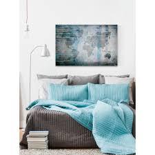 w the world in blue by parvez taj printed canvas wall art tjmhmp 03 c 60 the home depot on parvez taj beach life canvas wall art with 40 in h x 60 in w the world in blue by parvez taj printed canvas
