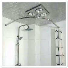 oil rubbed bronze shower curtain rods enclosure only in chrome curved double rod