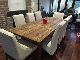 8 seat dining table. Solid Rustic Dining Room Table 8 Person Chairs Seat T