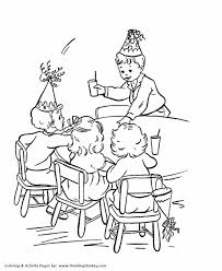 Birthday Coloring Pages Free Printable Kids Play At The Birthday