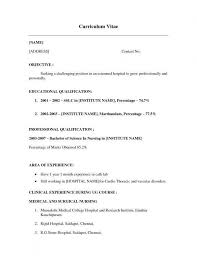 Elegant Example Resume For First Job No Experience Examples Student