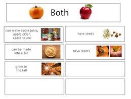 Pumpkin Venn Diagram Apple And Pumpkins Venn Diagram