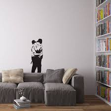banksy policemen in love vinyl wall art decal on vinyl wall art decals graphics stickers with banksy policemen in love vinyl wall art decal by vinyl revolution