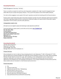 Cover Letter For Accounting Internship Resume Letters Sample
