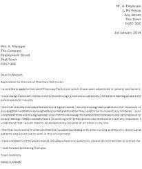 Pharmacy Cover Letter Examples Pharmacy Technician Cover Letter Example Icover Org Uk