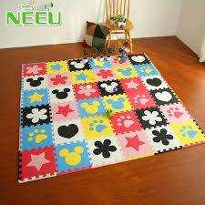 10 piece children exercise play mat soft eva foam floor puzzle blocking mats for kids toddlers puzzle piece gym flooring