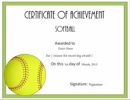 Free Printable Softball Certificates Free Softball Certificate Templates Customize Online