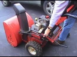 Yard Machine 10 HP Snow Blower Oil Change - YouTube