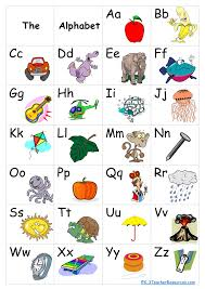 Abcd Chart With Picture Simple Alphabet Chart