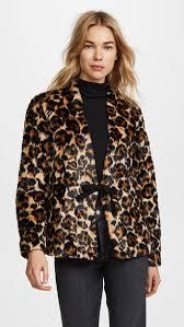 mcq alexander mcqueen short leopard faux fur coat leopard print coats holidays winter