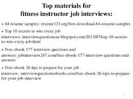 Fitness Instructor Resume Sample Pdf Ebook