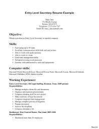 Medical Secretary Resume Examples Executive Secretary Resume Objectivexample School Sample Resumes 35