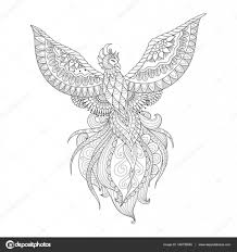раскраска птица феникс раскраска птица феникс Zendoodle дизайн