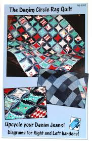 Denim Circle Rag Quilt Pattern & The Denim Circle Rag Quilt Pattern Adamdwight.com